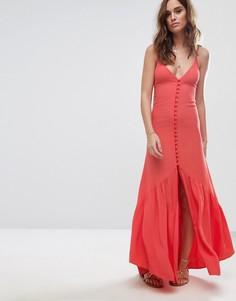 Платье миди на пуговицах Flynn Skye - Оранжевый