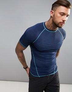 Синяя облегающая футболка с коротким рукавом ONeill Active - Синий O`Neill