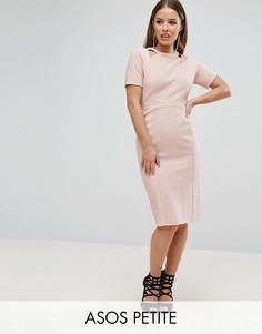Фактурное платье с вырезами ASOS PETITE - Розовый