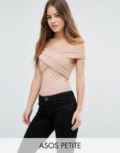 Боди с открытыми плечами ASOS PETITE - Розовый