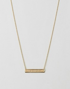 Ожерелье с надписью Gratitude Orelia - Золотой