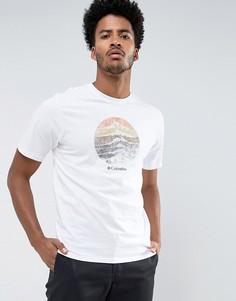 Белая футболка Columbia Mountain Sunset - Белый