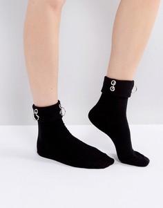 Носки с люверсами и кольцом ASOS - Черный