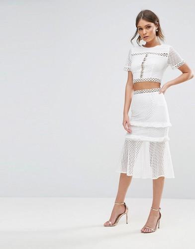 Кружевная юбка со вставками True Decadence - Белый
