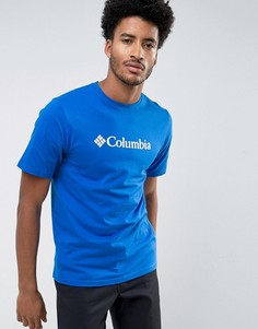 Синяя классическая футболка с логотипом Columbia - Синий