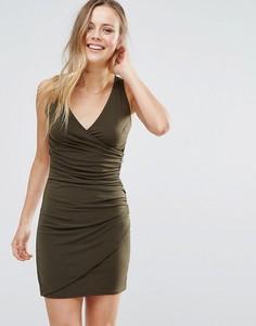 Облегающее платье с V-образным вырезом Wal G - Зеленый