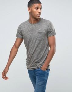 Длинная футболка с асимметричным краем Jack & Jones - Черный