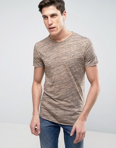 Длинная футболка с асимметричным краем Jack & Jones - Рыжий