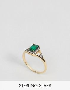 Кольцо с искусственным изумрудом Regal Rose Victoria - Золотой