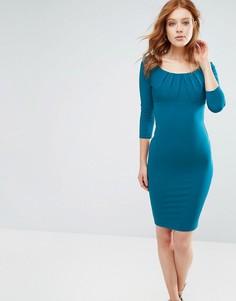 Платье-футляр с рукавами 3/4 City Goddess - Зеленый
