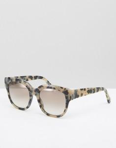 Солнцезащитные оversize-очки в черепаховой оправе Stella McCartney - Коричневый