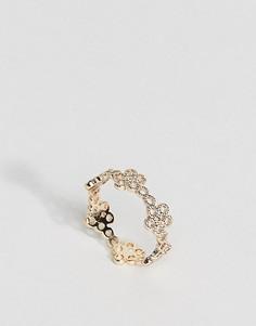 Филигранное кольцо на большой палец ASOS - Золотой