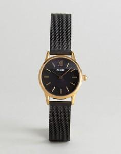Часы с черным сетчатым ремешком CLUSE Vedette - Черный