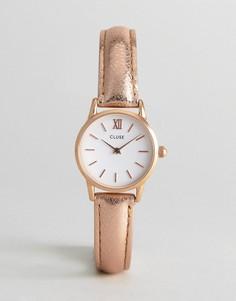 Часы с розово-золотистым корпусом и кожаным ремешком CLUSE Vedette - Золотой