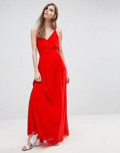 Платье макси на лямках Y.A.S Flawless - Красный