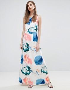 Цельнокройное платье с цветочным принтом Y.A.S - Белый