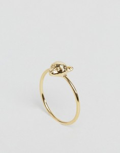 Позолоченное кольцо с головой лисы Orelia - Золотой