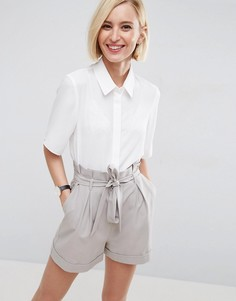 Укороченная блузка с короткими рукавами ASOS - Белый