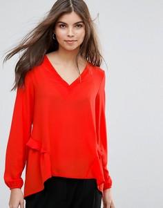 Блузка с оборками Vila - Красный