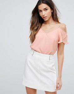 Блузка с открытыми плечами Vila - Розовый