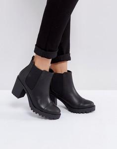 Ботинки челси на каблуке London Rebel - Черный