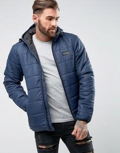 Дутая куртка на молнии Nicce - Темно-синий