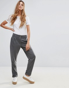 Фактурные брюки Neon Rose - Серый