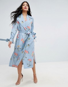 Пальто с цветочным принтом ASOS - Мульти