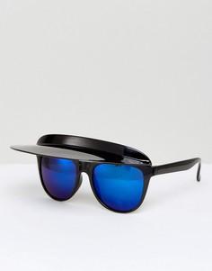 Солнцезащитные очки с козырьком ASOS - Черный