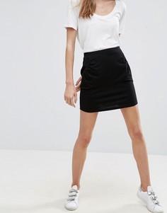 Мини-юбка с карманами ASOS - Черный