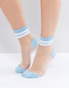 Полупрозрачные полосатые носки ASOS - Синий