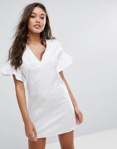 Платье с расклешенными рукавами Missguided - Белый
