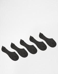 5 пар темно‑серых носков‑подследников ASOS - Серый