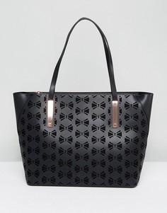 Большая сумка-шоппер с вырезами Ted Baker Dottii - Черный