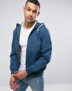 Однотонная куртка с затягивающимися шнурками Jack & Jones - Синий