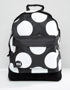 Черный рюкзак размера XL в горошек Mi-Pac - Черный