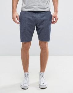 Трикотажные шорты с поясом на шнурке и необработанными краями Only & Sons - Синий