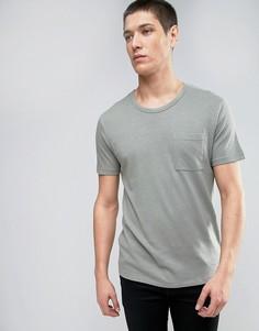Вязаная футболка Selected Homme - Зеленый