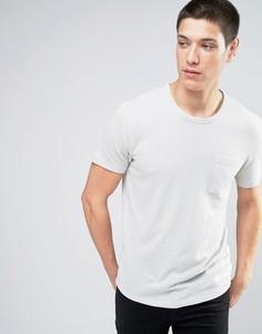 Вязаная футболка Selected Homme - Серый