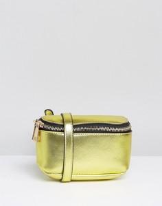Сумка-кошелек на пояс цвета металлик ASOS - Золотой
