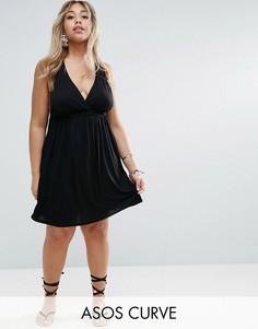 Короткое платье-халтер ASOS CURVE - Черный