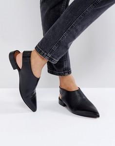 Кожаные туфли на плоской подошве ASOS MISCHIEF Premium - Черный