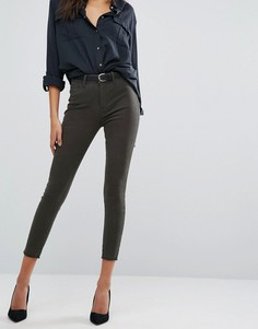 Супероблегающие укороченные джинсы с завышенной талией DL1961 Jessica Alba X DL No. 2 - Зеленый
