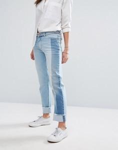 Джинсы в винтажном стиле с контрастной отделкой Tommy Hilfiger Denim - Синий