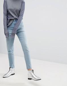 Укороченные джинсы в винтажном стиле с завышенной талией Cheap Monday - Синий