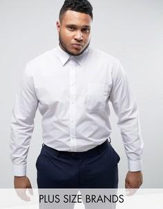 Строгая белая рубашка с длинными рукавами Duke PLUS - Белый