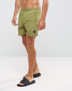 Зеленые шорты для плавания Only & Sons - Зеленый
