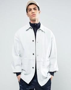 Выбеленная джинсовая куртка ASOS - Белый