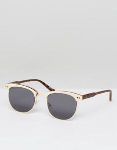 Солнцезащитные очки в стиле ретро ASOS - Золотой