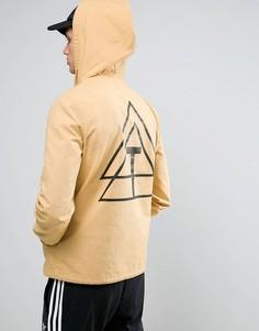 Желтая ветровка с принтом на спине ASOS - Красный
